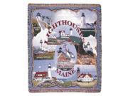 """""""Lighthouses of Maine"""" Tapestry Throw Blanket 50"""" x 60"""""""