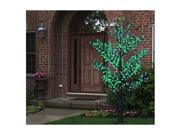 8.5' Pre-Lit LED Outdoor Christmas Tree Decoration - Green Flower Lights