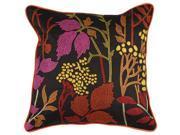 "22"" Night Safari Bright Red and Orange Decorative Throw Pillow"