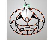 "16"" Lighted LED Pumpkin Halloween Window Silhouette Decoration"