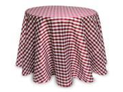 2 Red White & Gray Dupion Faux Silk Check Round Christmas Tablecloths 96""