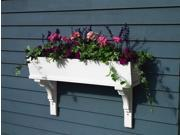 "36"" Handcrafted Sunrise White Cedar Outdoor Patio and Garden Window Box Planter"