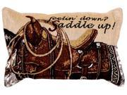 Feeling Down? Saddle Up! Horse Equestrian Decorative Accent Throw Pillow