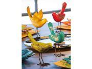 Pack of 4 Garden Charm Colorful Bird Outdoor Patio Table Top Figurines 5.5""