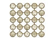 """20.75"""" Antique Finished Round Mirrored Glass Wall Decor"""