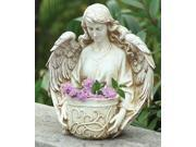 "12.5"" Religious Angel Bust Outdoor Patio Garden Planter"