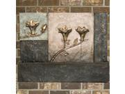 """26"""" VedaHome Lighted Lily Stone Outdoor Garden Patio Wall Mounted Water Fountain"""