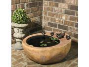 """26.25"""" VedaHome Large Bird Stone Outdoor Garden Patio Water Fountain"""
