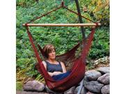 "48"" x 44"" Maroon Red Hanging Caribbean Rope Hammock Chair"