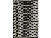 2' x 3' Krokev Caviar Black and White Hand Woven Wool Reversible Area Throw Rug