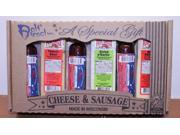 Holiday Party Favorites Gourmet Wisconsin Variety Sausage and Cheese Sampler Gift Basket