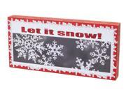 """Pack of 4 """"Let it snow!"""" Wall Decorations 6.75"""""""