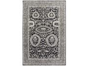 9' x 13' Jet Black and Smoky Gray Turkish Faces Hand Knotted Wool Area Throw Rug