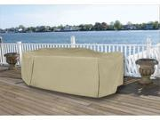 Durable Full Vinyl Premium Outdoor Round Patio Full Set Cover - Khaki