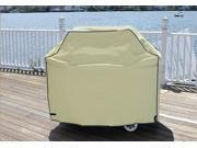 Durable Outdoor Patio Full Vinyl Premium Gas Grill Cover - Khaki