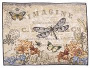 """Pack of 4 French Vintage Style Dragonfly Decorative Tapestry Placemats 12"""" x 18"""""""