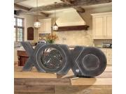 """24"""" Hand Sculpted Wooden Distressed Finish """"XOXO"""" Table Top Figure Fan"""