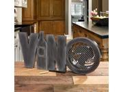 """19.5"""" Hand Sculpted Wooden Distressed Finish """"Vino"""" Table Top Figure Fan"""