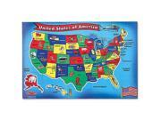 Melissa & Doug : United States Map Floor Puzzle (51 Pcs)