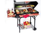 Outlaw BBQ Char-Griller - Large Capacity Charcoal Grill & Smoker (Side Fire Box)