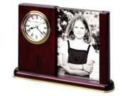 Photo and Clock Caddy with Glass Divider and Crystal Glass