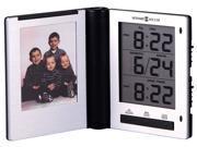 Folding Digital Travel Alarm Clock with Photo Holder