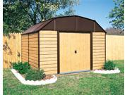 Wood Siding Garden Shed w Brown Roof (10 ft. x 14 ft.)