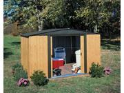 Stainlees Steel Garden Shed with Painted Wood Grain Finish (8 ft. x 6 ft.)