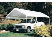 Long Car Canopy/Carport w Heavy Steel Frame