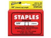 Arrow Fastener 586 3/8 Inch (10mm) Staples, 1000/Pk