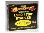 Arrow Fastener 50524 T50 Divergent Point Flat Crown Staples