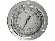 "BTPM24041 Panel mount bimetal stem thermometer, range -40 to 160DegF, 4"" stem."