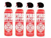 FS Fire Stop Fire Suppressant, 15 oz Aerosol Can, 4 PK