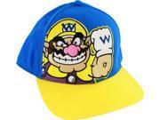 Nintendo Wario Men's Adjustable Snapback Hat