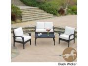 Christopher Knight Home Honolulu Outdoor 4pc Wicker Seating Set & Cushions