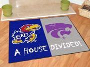 "34""x45"" Kansas - K-State House Divided Rugs 34""x45"""