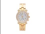 Aqua Master Men's or Women's Round Diamond-Cut Watch with One Row Diamond Bezel, 2.20 ctw