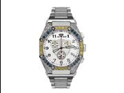 Aqua Master Men's Octagon Diamond Watch with Canary and Blue Diamond Bezel, 4.50 ctw