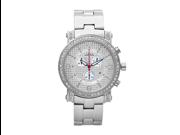Aqua Master Men's Round Diamond-Cut Watch with One Row Diamond Bezel, 2.60 ctw