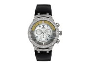 Aqua Master Men's Power Canary Diamond Watch with Diamond Bezel and Rubber Strap, 4.25 ctw