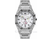 Aqua Master Men's Octagon Diamond Watch with Diamond Bracelet, 17.65 ctw