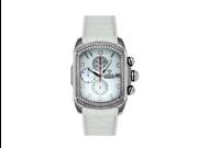 Aqua Master Men's Medium Rectangular Bubble Loop Two Row Diamond Watch, 1.25 ctw