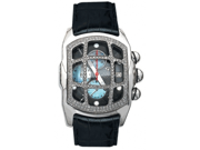 Aqua Master Men's Medium Rectangular Bubble Loop Diamond Watch with Grille, 1.75 ctw