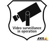 AXIS SURVEILLANCE STICKERS 10PCS