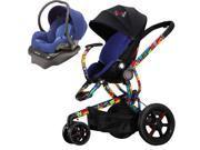 Quinny Britto Moodd Stroller Travel systemw/Mico AP Car Seat  Blue