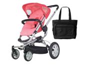 Quinny CV155BFX Buzz 4 Stroller - Pink Blush With a Diaper Bag