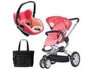 Quinny CV155BFX Buzz 3 Prezi Travel System in Pink Blush with Diaper Bag