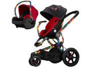 Quinny CV218BTO Britto Moodd Stroller Travel system w Britto Mico Car Seat  Red