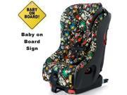 Clek foonf Convertible Car Seat w Baby on Board Sign  - tokidoki rebel