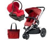 Quinny Buzz Xtra Travel System in Red with Diaper Bag